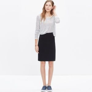 Madewell City Mini Skirt in Black